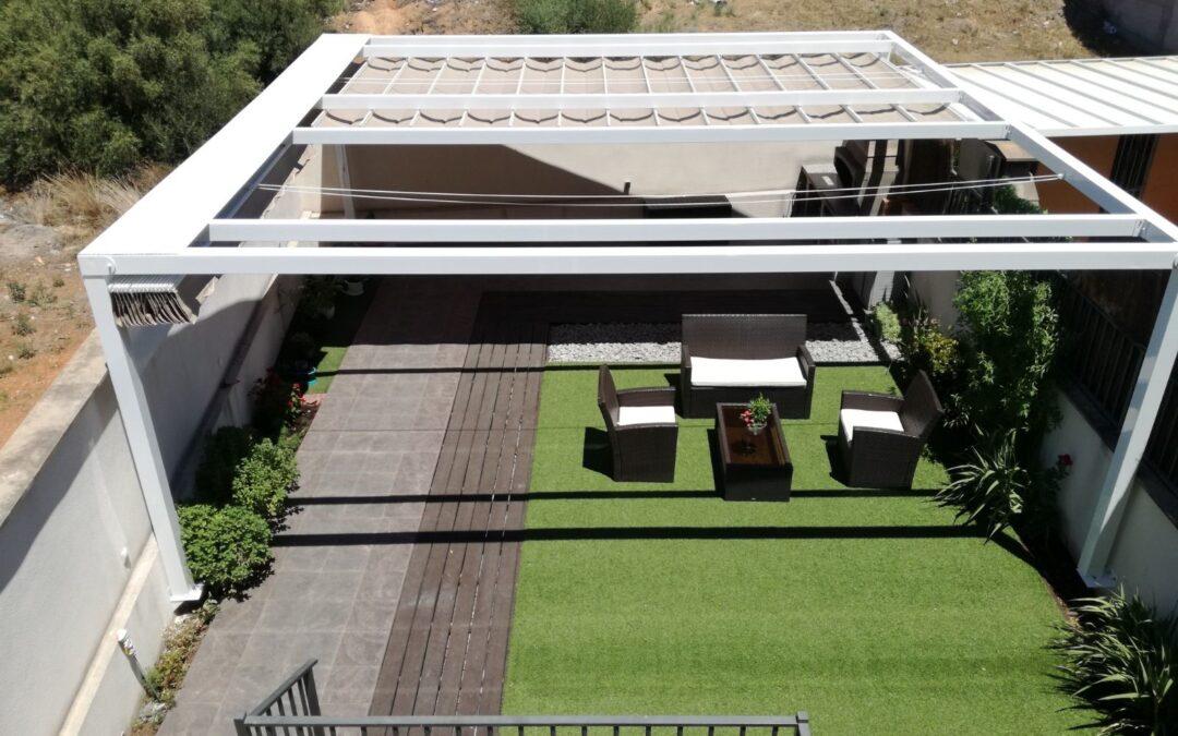 Pérgola de 7×7 metros en terraza de vivienda