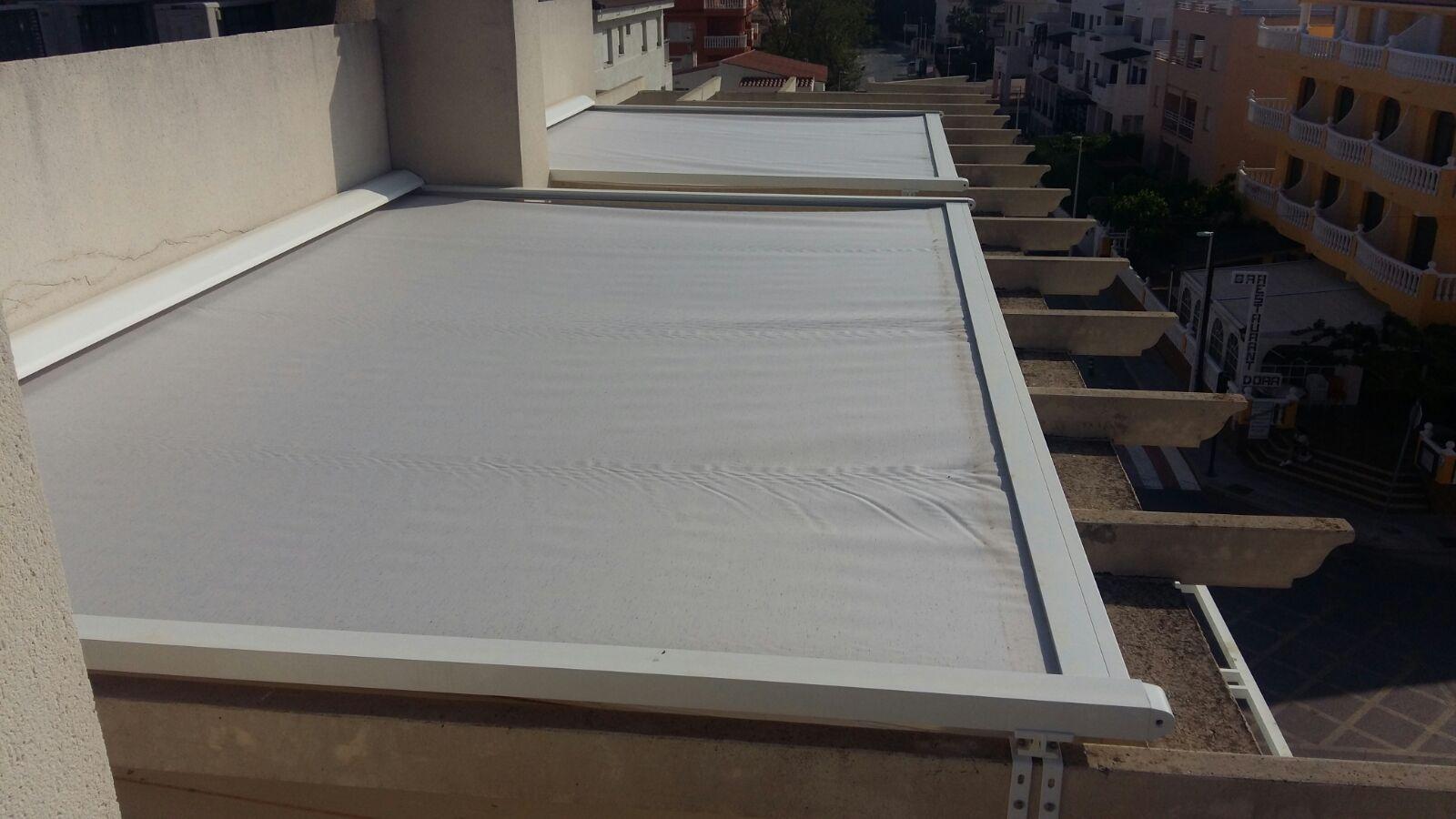 toldo veranda doble motorizado en Alcocebre