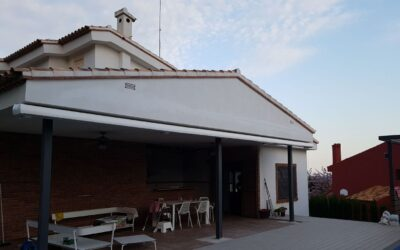 Toldo ARMONY PLUS de BAT 9,60m x 4,00m con SOMFY en Borriol