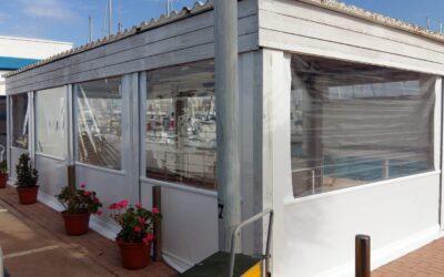 Toldos telón PVC en el puerto de Burriana + Puerto Azahar Grao Castellón