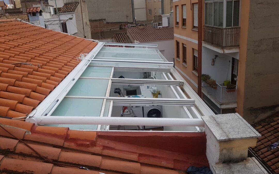 Toldos veranda Giotto motorizados con Somfy en Castellón
