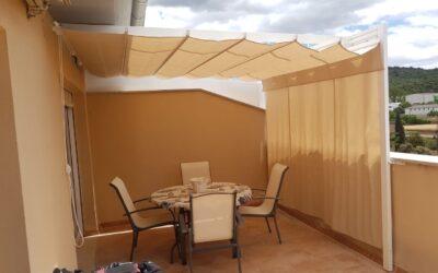Toldos planos correderos en Alcora y Benassal (Castellón)