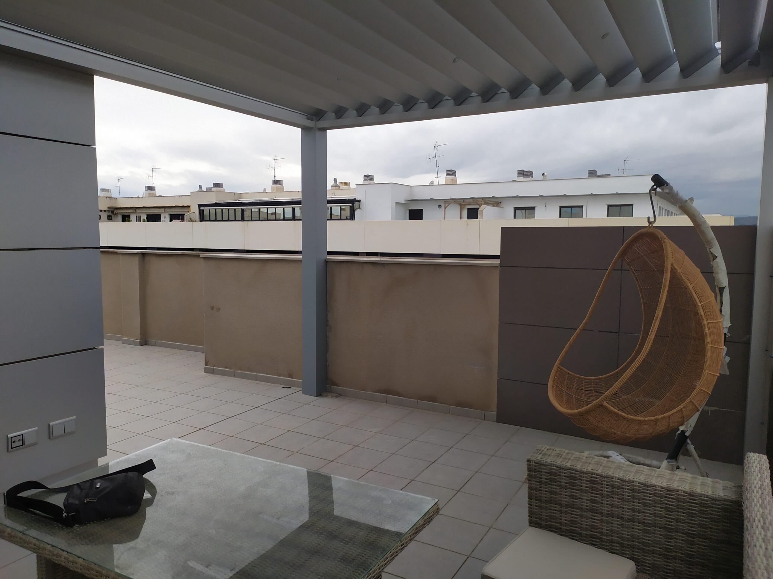 Pérgola bioclimática ático Castellón