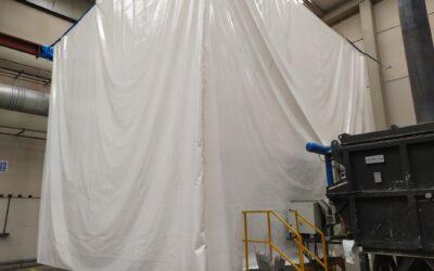 Lonas protectoras de PVC en Industrias Dolz (Almazora)